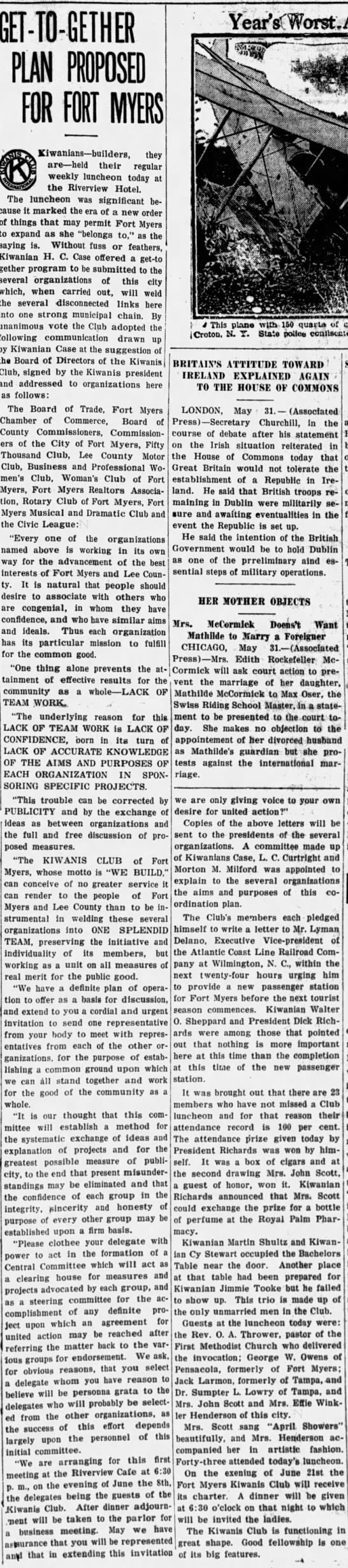 Fort Myers Press, May 31, 1922