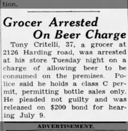 Grocer Arrested On Beer Charge