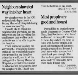 My Letter to the Editor, Rochester Democrat & Chronicle, 24 Mar 1999
