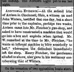 The Brooklyn Daily Eagle 27 Dec 1855 Additional Evidence - Second Trial