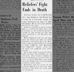 BDE - 12 Aug 1939 - Reliefers' Fight Ends in Death