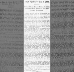 Brooklyn Daily Eagle, Mar 29 1904; Dispute over Matty and John Ward v Charles Dunn in Court