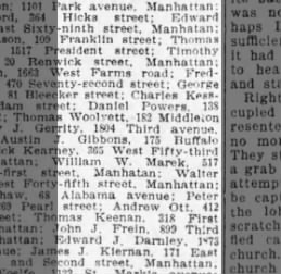 Daniel Powers becoming a fireman or police liv on warren st 02/24/1908