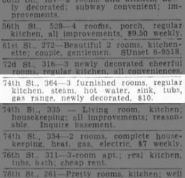 364 74th St. - 1933 - room for rent