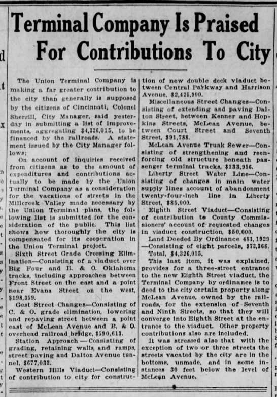 1929_09_14_Cinti Enquirer_Page 28_Terminal Company Is Praised For Contributions To City