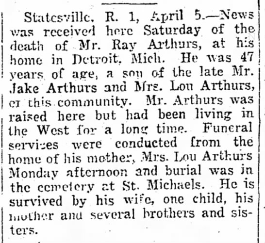 Statesville Record & Landmark Statesville, North Carolina 8 April 1932