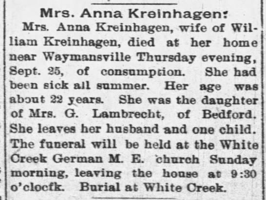 Kreinhagen Anna Lambrecht