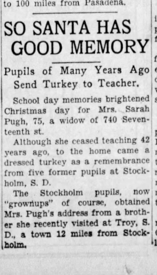 Great Grandma Sarah Pugh