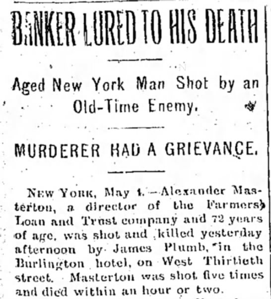 Banker Murdered by Man with Grievances