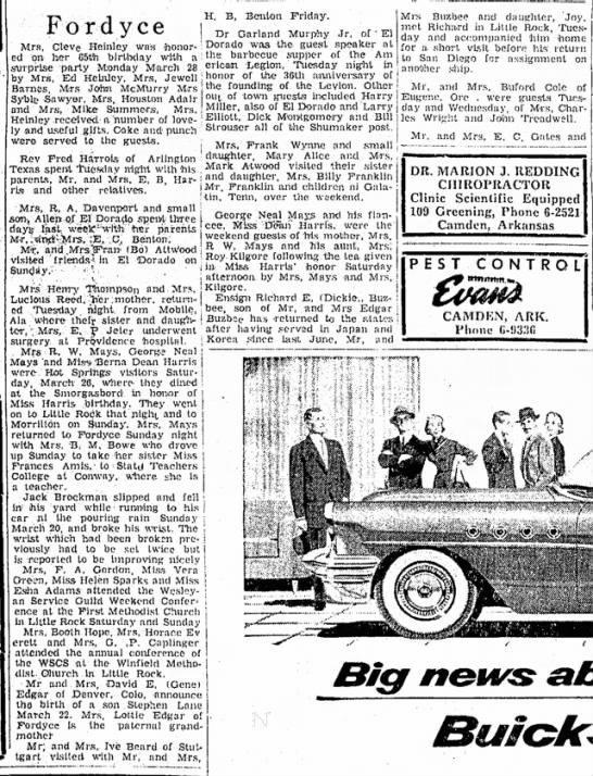 Ensign Richard Buzbee 6 Apr 1955