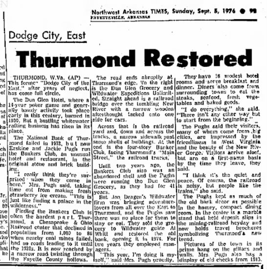 Sept 4 1976 - Good article with info on Bankers Club history and Thurmond in the 1970s