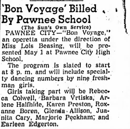 Bon Voyage Program, Roxanne 