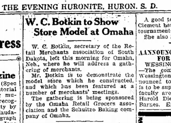 WC Botkin - Daily Plainsman Huron SD - 10 Apr 1929 p3