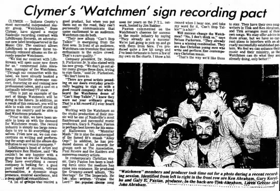 Indiana Gazette Gary Paxton June 12 1999