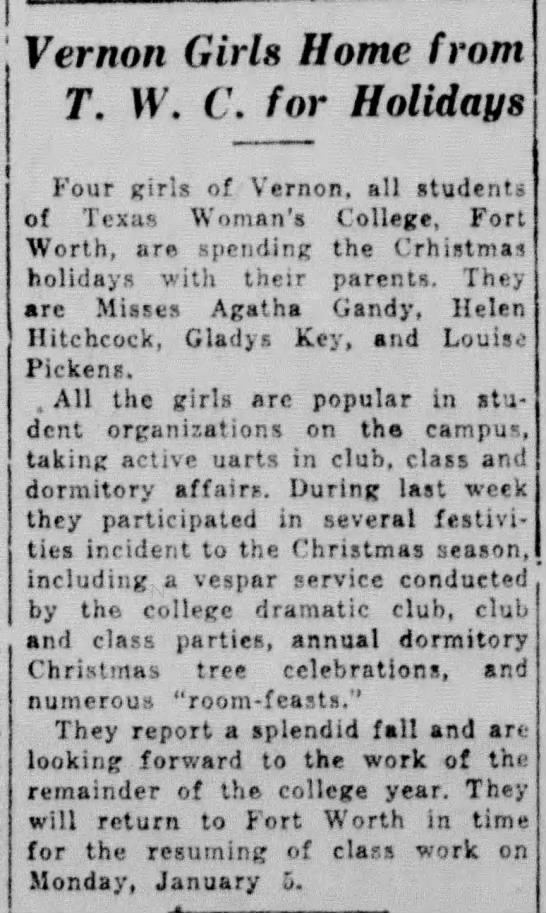 The Vernon Daily Record, TX, 20 Dec 1930 p5 c3