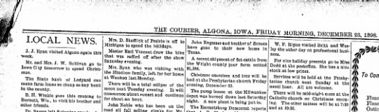 23 dec 1898 algona courier