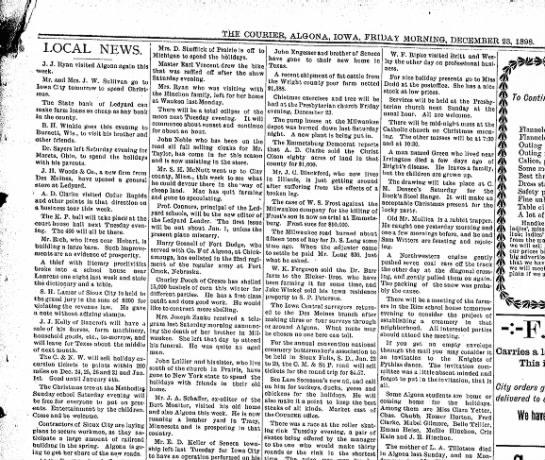 23 dec 1898 algona courier