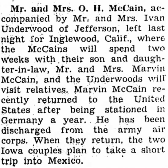 5 Oct 1946 Carrol Daily Times Hearld, Carrol, Iowa