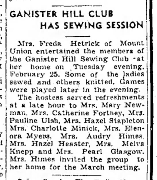 Aunt Charlotte Minick, sewing club-TDN-1 Mar 1947-page 8