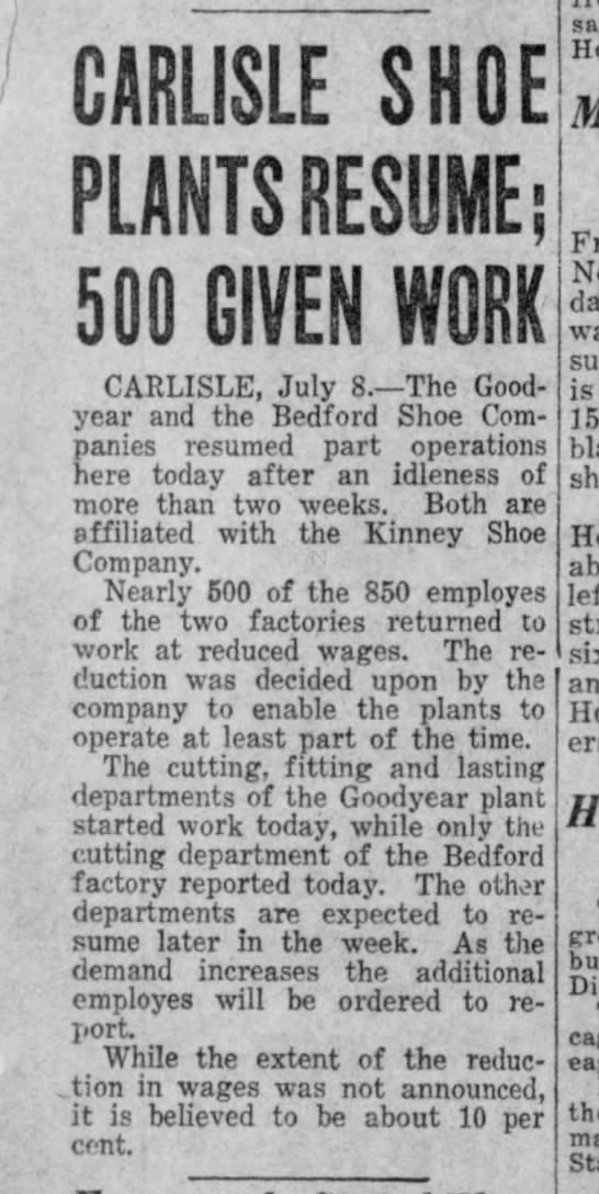 Bedford cut backs 1930