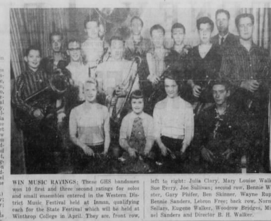 Mar 16, 1957 Band awards.