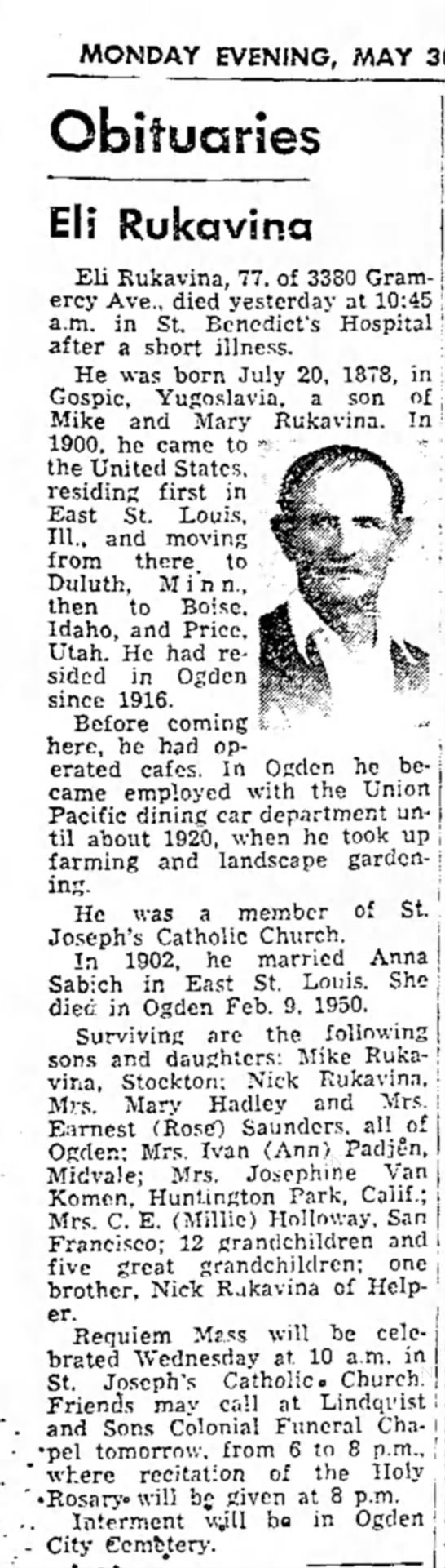The Ogden Standard-Examiner (Ogden, Utah) 30 May 1955 page 15