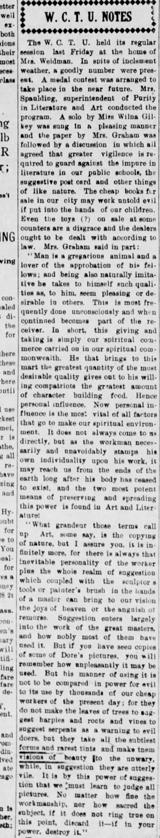 Weekly Rogue River Courier (Grants Pass, OR) 6 Mar 1908 p2 c4