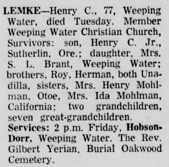 Henry Lemke, Sr.