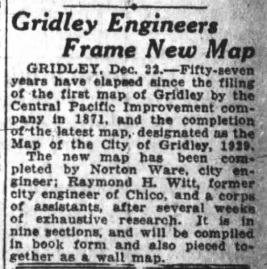 Raymond H. Witt Oakland Tribune 23 Dec 1928