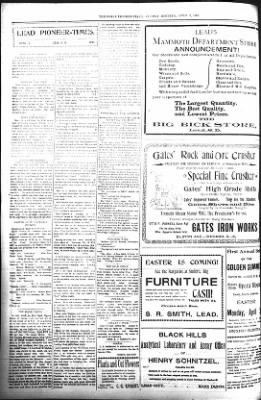 The Daily Deadwood Pioneer-Times from Deadwood, South Dakota on April 2, 1899 · Page 6