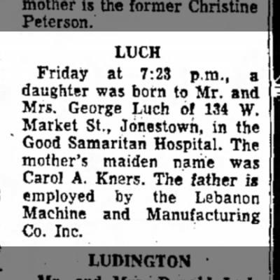 Kimberly Luch birth