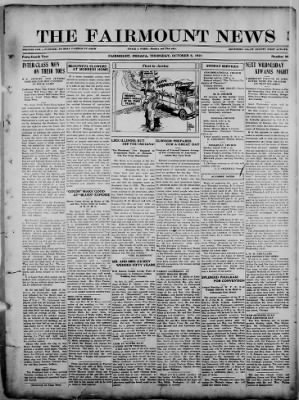The Fairmount News from Fairmount, Indiana on October 6, 1921 · Page 1