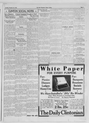 The Daily Clintonian from Clinton, Indiana on December 26, 1936 · Page 3
