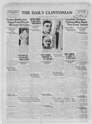 The Daily Clintonian from Clinton, Indiana on December 29, 1936 · Page 1