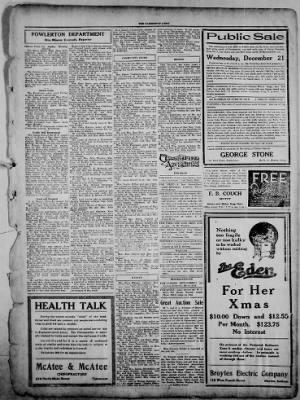 The Fairmount News from Fairmount, Indiana on December 15, 1921 · Page 5