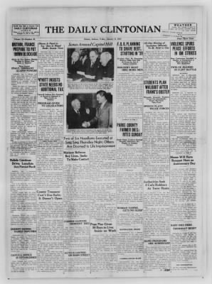 The Daily Clintonian from Clinton, Indiana on January 8, 1937 · Page 1