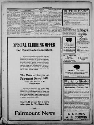 The Fairmount News from Fairmount, Indiana on January 23, 1922 · Page 3