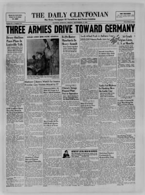 The Daily Clintonian from Clinton, Indiana on September 8, 1944 · Page 1