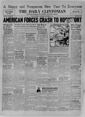 The Daily Clintonian from Clinton, Indiana on December 30, 1944 · Page 1