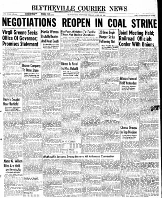 The Courier News from Blytheville, Arkansas on April 29, 1946 · Page 1