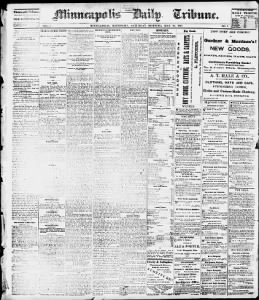 First issue of the Minneapolis Daily Tribune, 25 May 1867