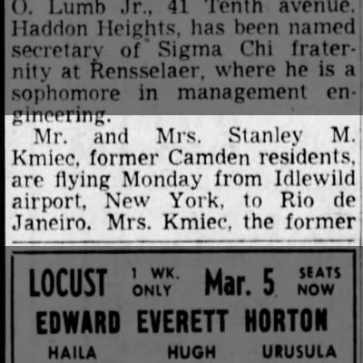 Stanley Kmiec  3 Mar 1951 page 1