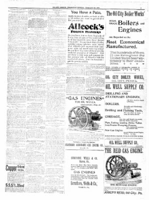 The Oil City Derrick from Oil City, Pennsylvania on February 22, 1899 · Page 6