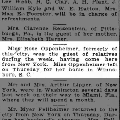 Article in The Washington Post 17 Feb. 1918 page 8-?possible sister of Herman