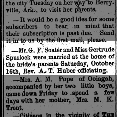 Fort Gibson Post (Fort Gibson, Oklahoma) 21 Oct 1897, p. 5