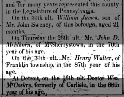 Henry Walter death notice