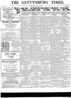 The Gettysburg Times from Gettysburg, Pennsylvania on September 27, 1913 · Page 1