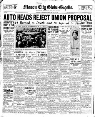 The Mason City Globe-Gazette from Mason City, Iowa on March 24, 1934 · Page 1