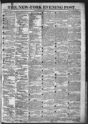 The Evening Post from New York, New York on January 31, 1818 · Page 1