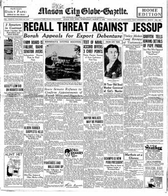 The Mason City Globe-Gazette from Mason City, Iowa on March 11, 1931 · Page 1